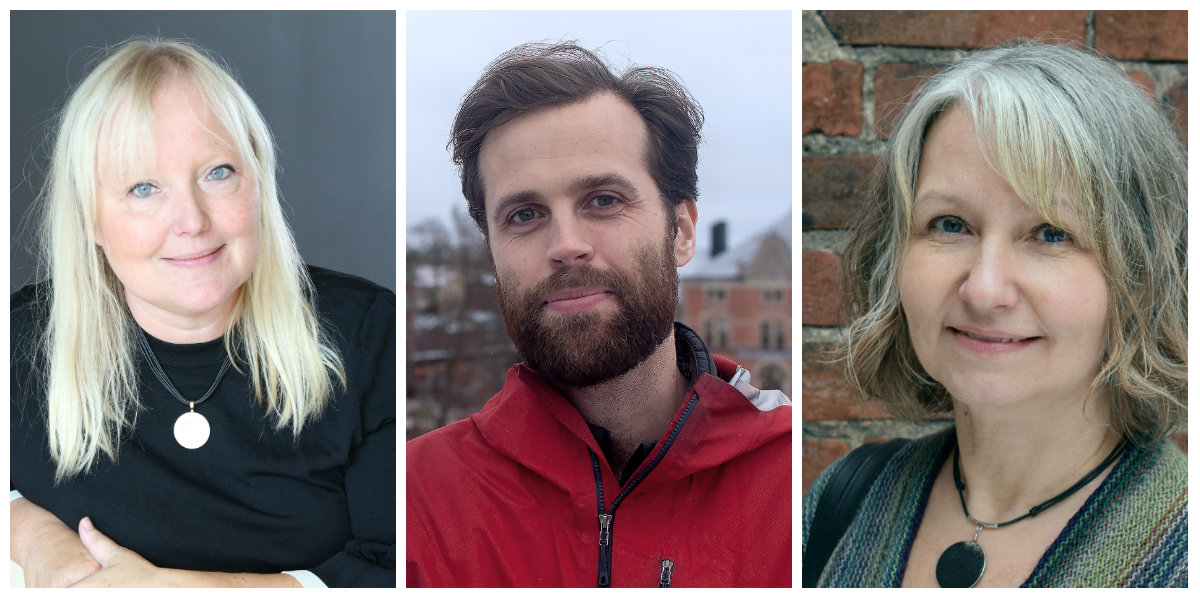 Ann Nordgren, Martin Hanberger och Ulrika Norén-Nyström arbetar alla på projekt som nu tilldelas pengar av Barncancerfonden. Foto: Rick Guidotti, Sara Rutberg, Sofia Ström Bernad.