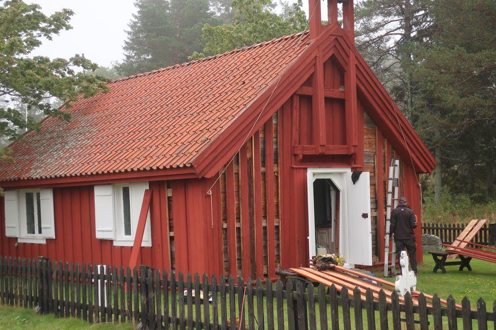 Byggåret för Brämöns kapell i Medelpad har tidigare varit okänt men har nu  daterats till 1620. Foto: Daniel Olsson/Länsmuseet Gävleborg