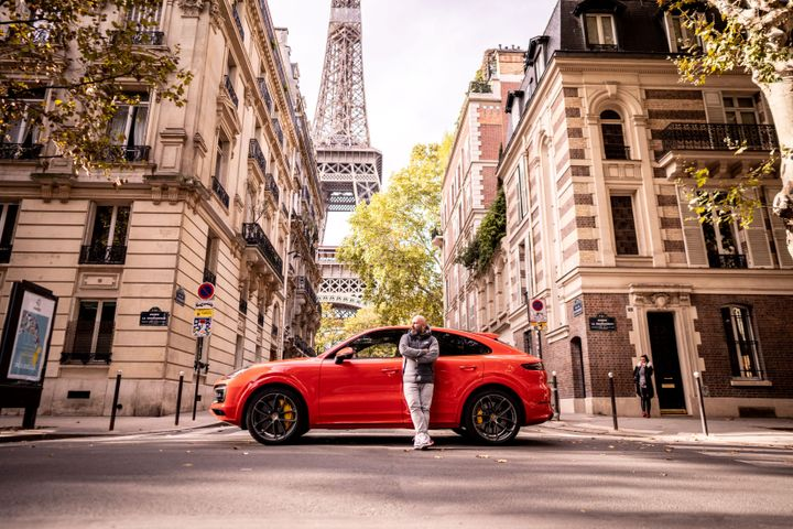 Cayenne S Coupé: Fuel consumption combined 9.4 – 9.2 l/100 km; CO2 emissions 216 – 212 g/km. Music journalist Niko Hüls has explored hip-hop culture in Europe. Credits: Porsche Newsroom