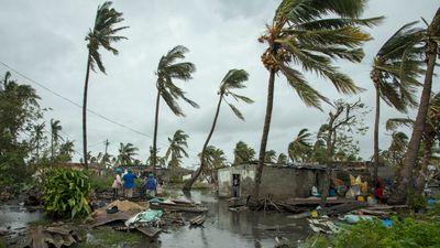 Kuststaden Beira i östra Moçambique har blivit nästan totalförstörd av cyklonen Idai. Foto: Josh Estey/AP/TT