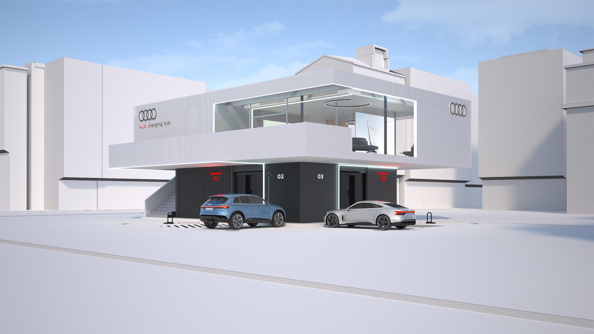 Audi satsar på pilotkoncept för snabbladdning