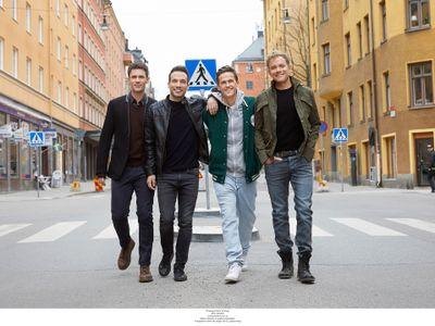 David Lindgren, Peter Johansson, Robert Rydberg och Bruno Mitsogiannis. Foto: Peter Knutson
