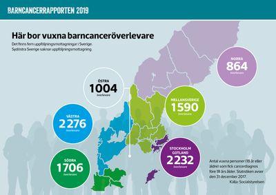 Alla vuxna personer som har behandlats för barncancer ska erbjudas uppföljning. Men få mottagningar har möjlighet att kalla barncanceröverlevare över 25 år – och i sydöstra Sverige finns inte ens en uppföljningsmottagning.