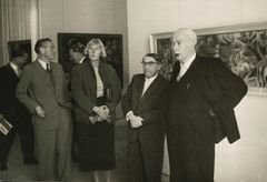 Federal President Theodor Heuss at documenta 1, 1955 © documenta archiv / Photo: Erich Müller