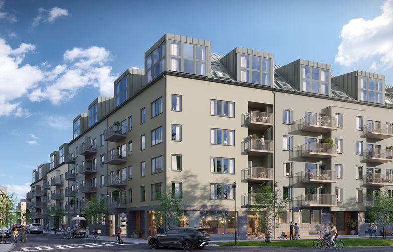 115 bostadsrätter nära Sollentuna centrum och Edsvikens badplatser och båtbryggor. Visionsbild: OBOS.