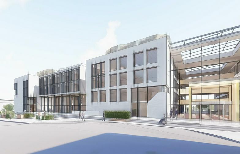 AF Gruppens dotterbolag Strøm Gundersen har fått i uppdrag att bygga om Kommunhuset i Sandvika för Bærum Kommunale Pensjonskasse. Ill.  Insenti.