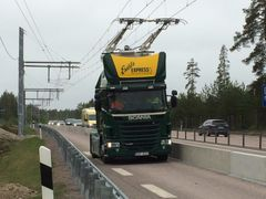 First electric road in Sweden inaugurated on the E16 in Sandviken. Photo: Region Gävleborg