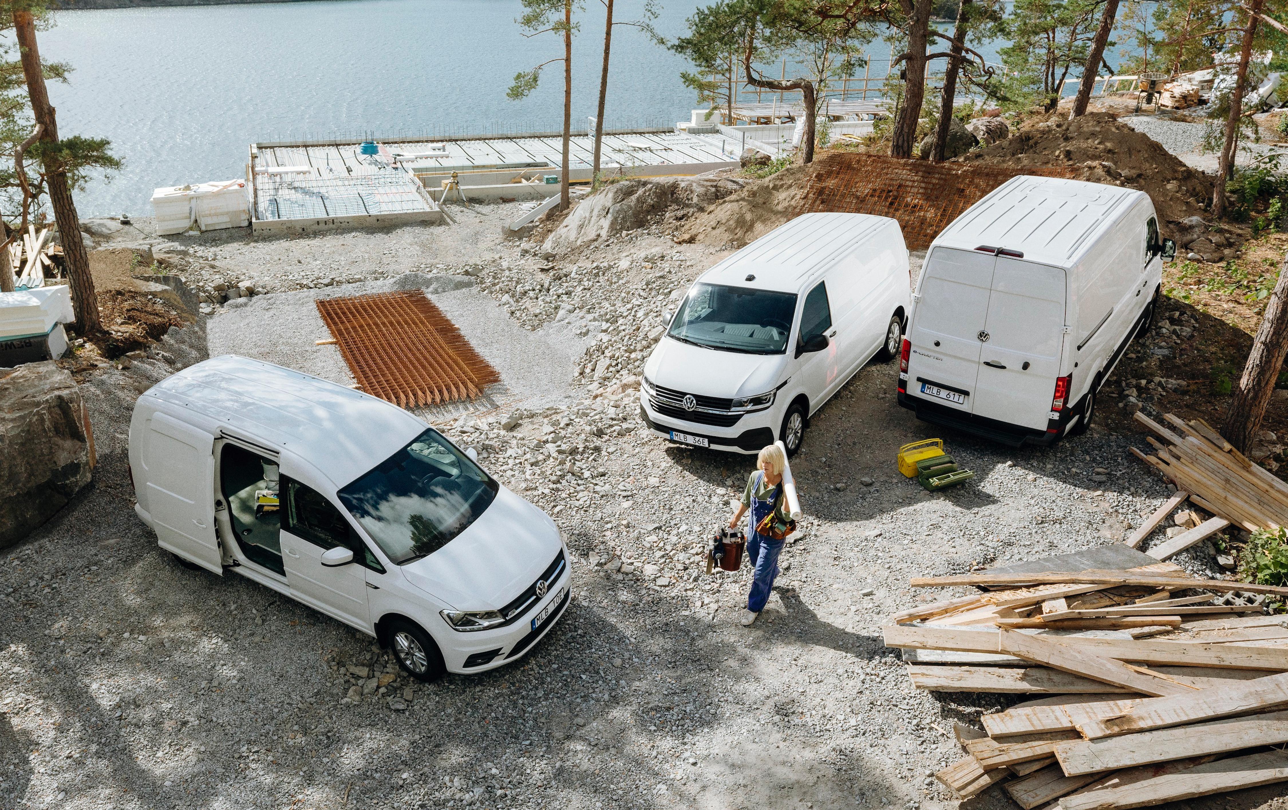 Nytt rekordår i Sverige – nästan var tredje såld lätt transportbil var en Volkswagen