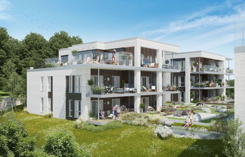 "AF Gruppen bygger bostadsprojektet ""Villa Bekkestuene"" på Bekkestua i Bærum"