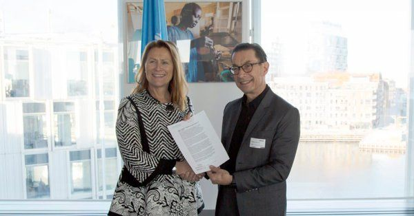 Grete Faremo, UNOPS Executive Director och Kjell Håkan Närfelt, Chief Strategy Officer på Vinnova