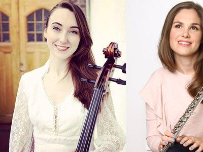 Linnea Vikström (cello) och Catrin Johansson (flöjt) gör examensprojekt på UKK i höst.