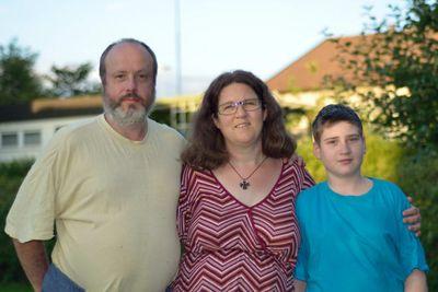 Familjen Runyeon Odeberg: Hans, Kristina och Markus (Foto: privat)