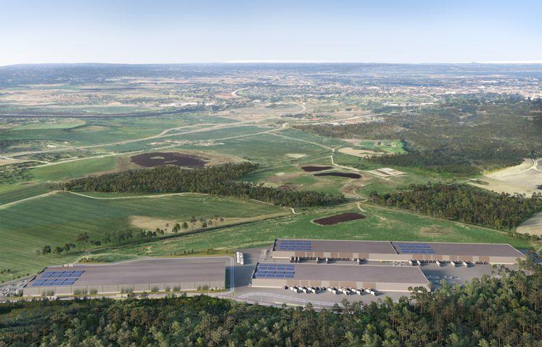 Visionsbild Klinga Logistikpark. Bild: Krook & Tjäder.
