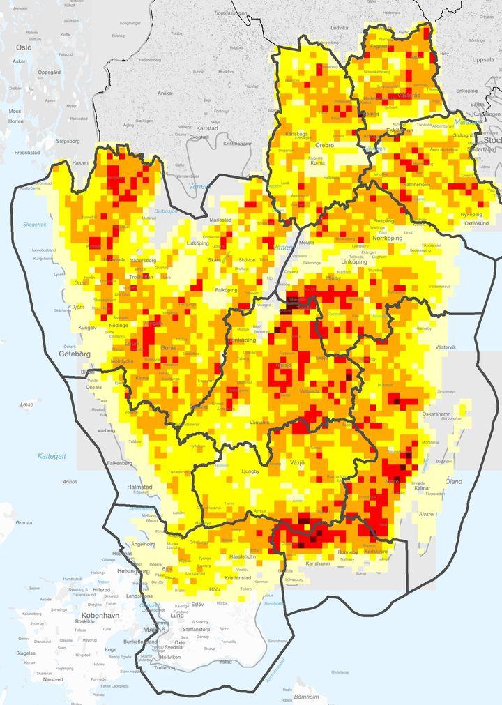 Ny Karta Har Ar Risken Storst For Angrepp Av Granbarkborre