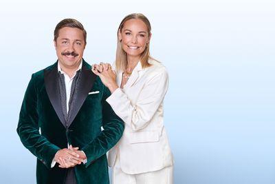 David Sundin och Carina Berg är årets programledarduo. Foto: Linus Hallsénius