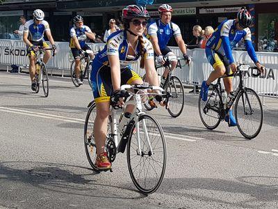Ride of Hope-cyklist. Foto: Sanna Friborg