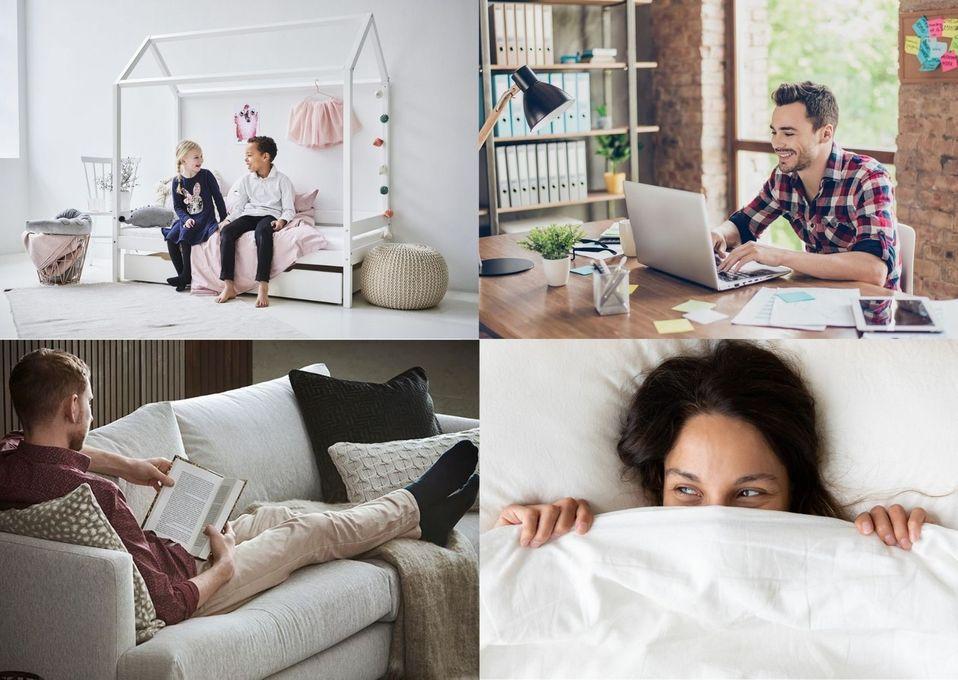 Svanenmärkta möbler finns till allt från barnrummet till kontoret.