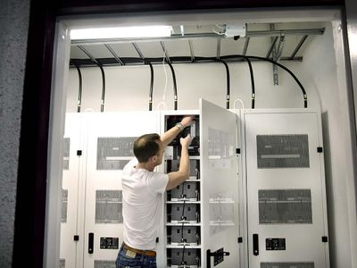 Bild: Primrocks energilager för leverans av balans- och kapacitetstjänster i Stockholm Fotograf: Kristina Sahlén