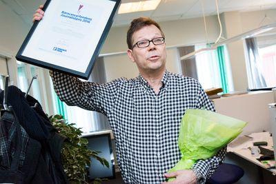 Mikael Leijon på Norrbottens-Kuriren vann Barncancerfondens journalistpris 2016.