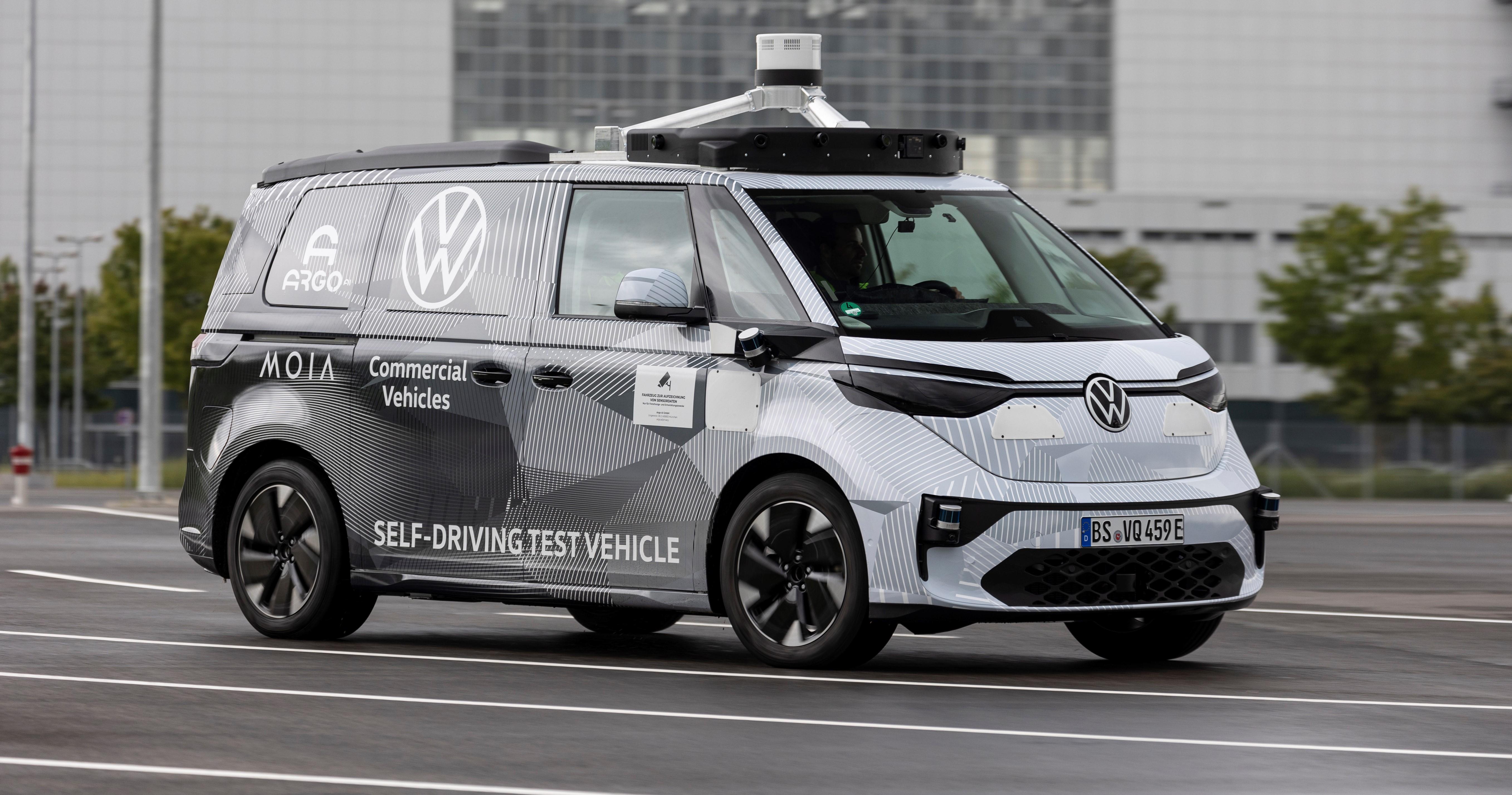 Volkswagen Transportbilar, Argo AI och MOIA visar självkörande prototyp av ID. BUZZ