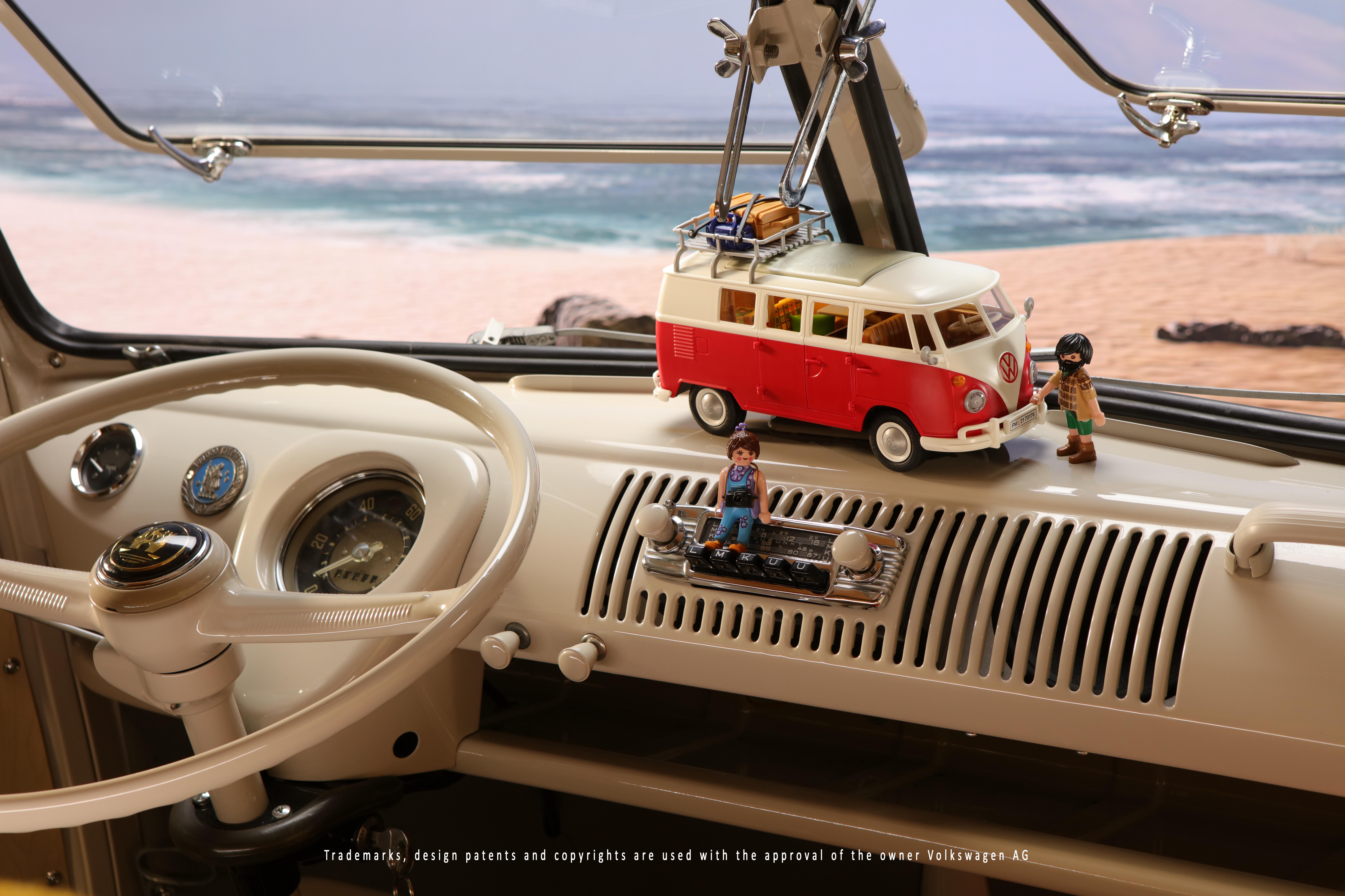 Folkabussen som stod modell för första leksaksbilen från PLAYMOBIL
