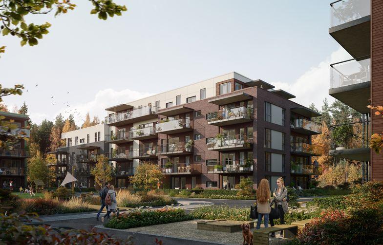 """AF Gruppen har tecknat avtal med Brekkeveien 19 Utvikling om byggnation av bostadsprojektet """"Brekketunet"""" i Ås i Viken, Norge. Ill. OBOS Nye Hjem/Løvenskiold Eiendom."""
