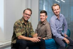 Qred founders Emil Sunvisson, Jason Francis and Thomas Jansson