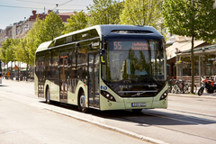 Buss55 geofencing Electric city Göteborgs stad